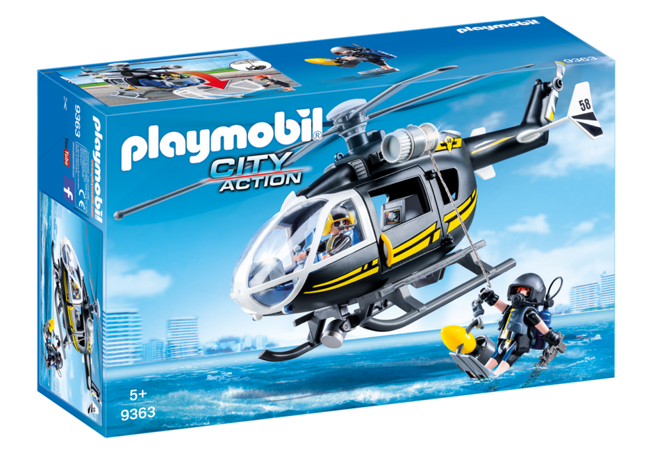 PLAYMOBIL SWAT - Helicopter - 9363