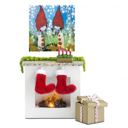 LUNDBY Smaland Xmas Fireplace Set