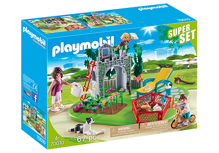 PLAYMOBIL SuperSet - Family Garden - 70010