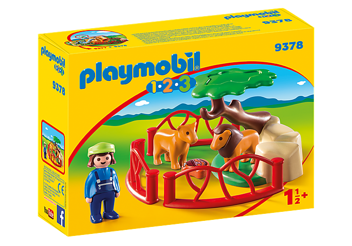 PLAYMOBIL 123 - Lion Enclosure - 9378