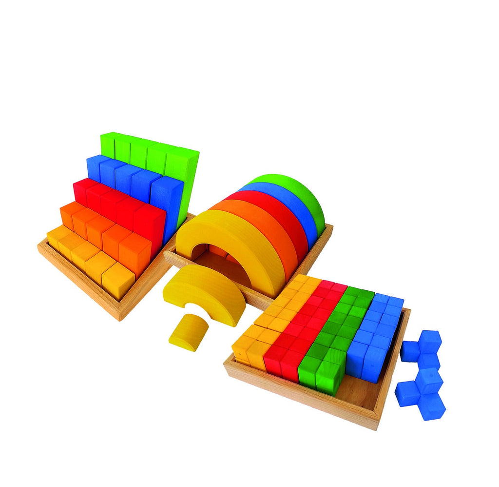 Bauspiel - Junior Building Set - 72 Piece - Wooden