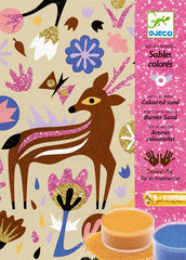 DJECO Art Kits- Coloured Sand -Woodland