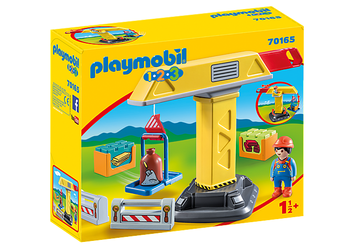 PLAYMOBIL 123 - Construction Crane - 70165