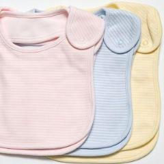 EMOTION & KIDS - Blue/red Fine Stripe Bib Set - 2 Pack