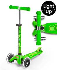 MICRO SCOOTER - Mini Micro Deluxe Led Scooter - Green
