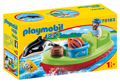 PLAYMOBIL 123 - Fisherman with Boat & Whale - 70183