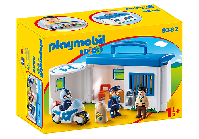 PLAYMOBIL 123 Police Take Along Police Station -  9382