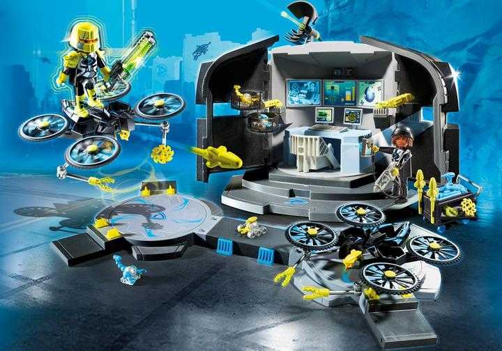 PLAYMOBIL Top Agents - Dr. Drone's Command Center 9250