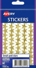 AVERY - Stickers - Small Gold Stars - Pack of 90