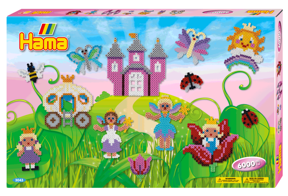 HAMA Giant Gift Box Princess - 6000 Beads