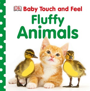 BOOK - Fluffy Animals - Board Book Touch and Feel