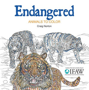 Endangered: Animals To Colour - Colouring Book