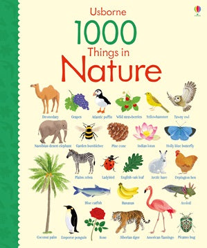 BOOK - USBORNE - 1000 Things in Nature -  Board Book