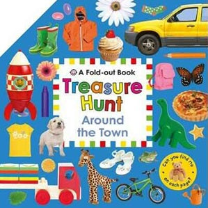 Around the Town - Board Book - Fold Out
