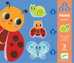 DJECO Puzzle Primo In The Garden Progressive 3,4,5pc