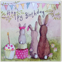 Greeting Card - Alex Clark RabbIt Family 641