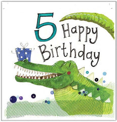 5 Year Old Birthday Greeting Card