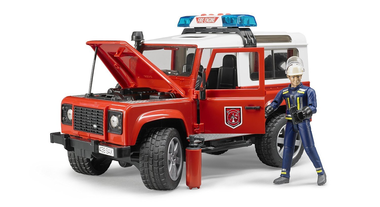 BRUDER - Land Rover Defender Station Wagon Fire Dept. 2596