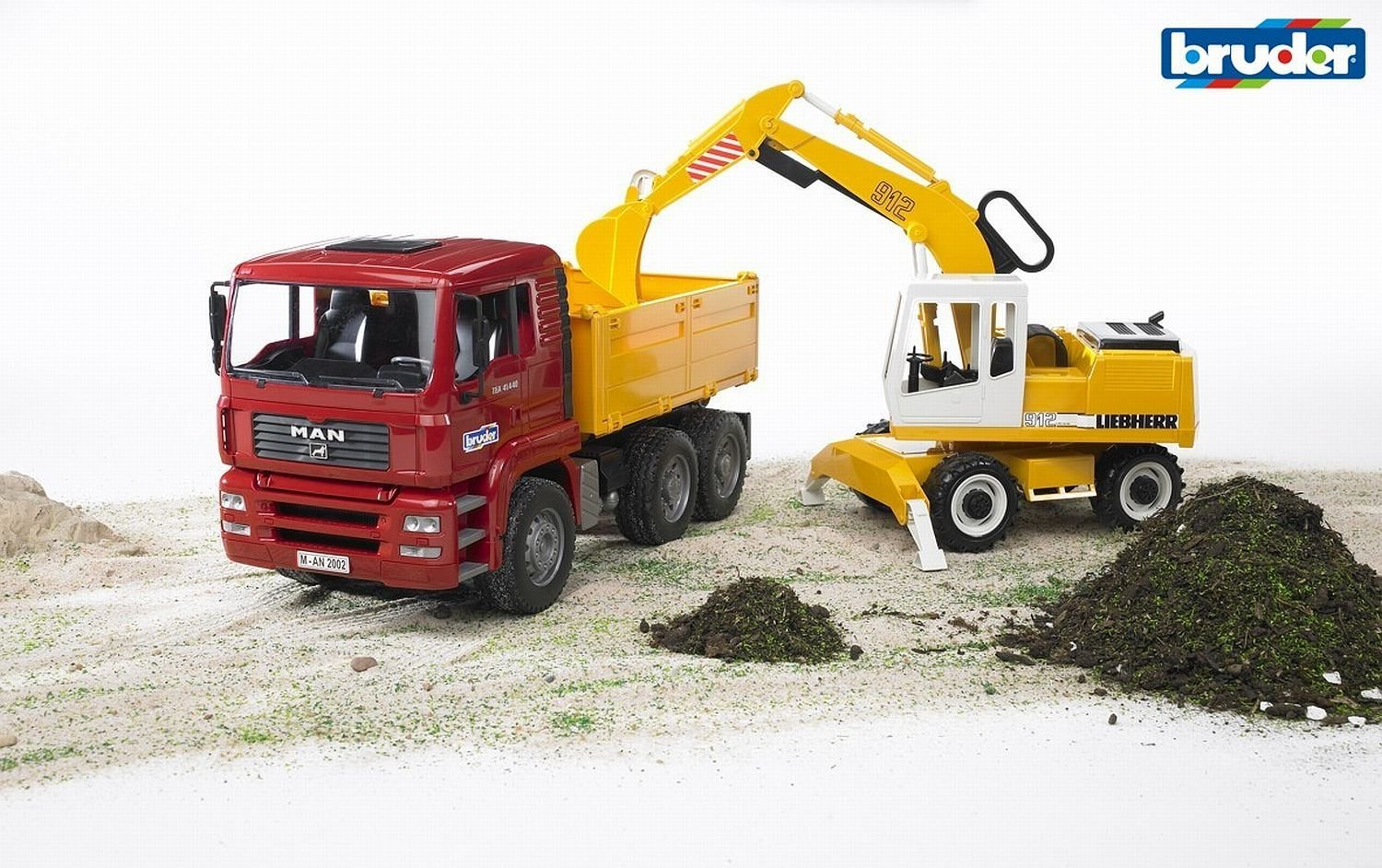 BRUDER - MAN TGA Construction truck with Liebherr Excavator- 2751