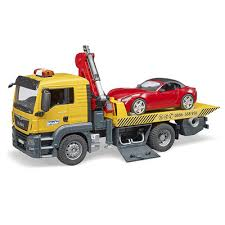 BRUDER MAN TGS tow truck with roadster 03750