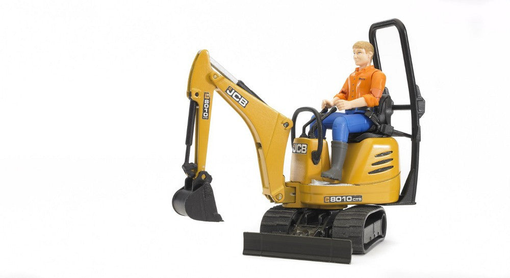 BRUDER - JCB Micro Excavator 8010 & Construction Worker 1:16 - 62002