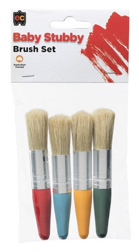 EC Brushes Baby Stubby Pack 4