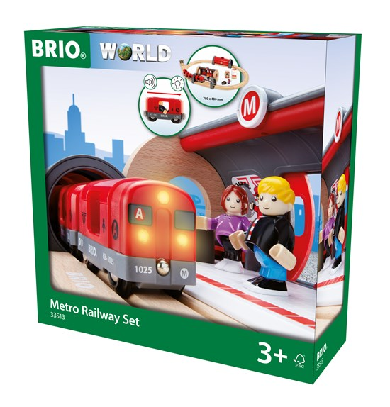 BRIO Train Set - Metro Railway Set - 20 pc