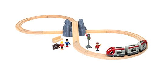 BRIO Train Set 33773- Railway Starter Set, 26 pc