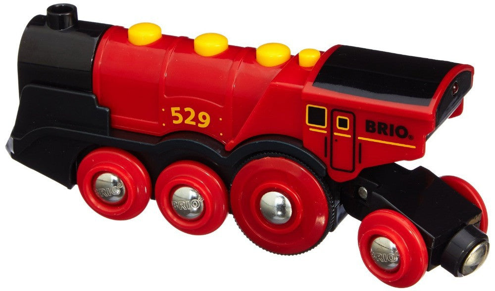 BRIO Battery Operated Mighty Red Action Locomotive