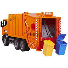 BRUDER - SCANIA R-Series Garbage Truck (orange) 03560