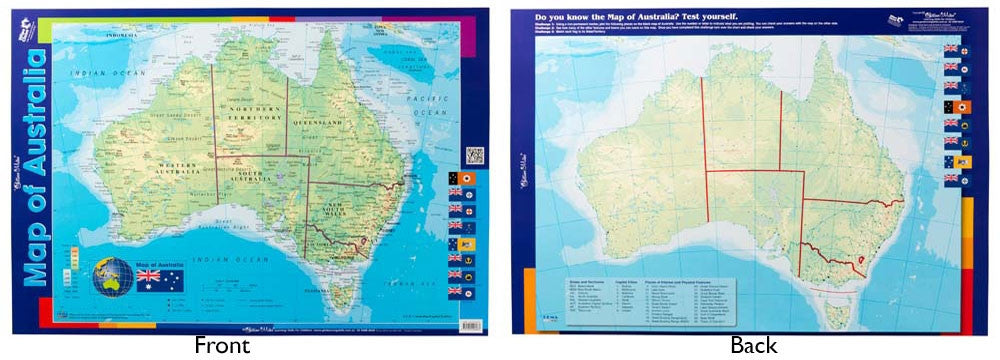 Gillian Miles - Map of Australia Wall Chart