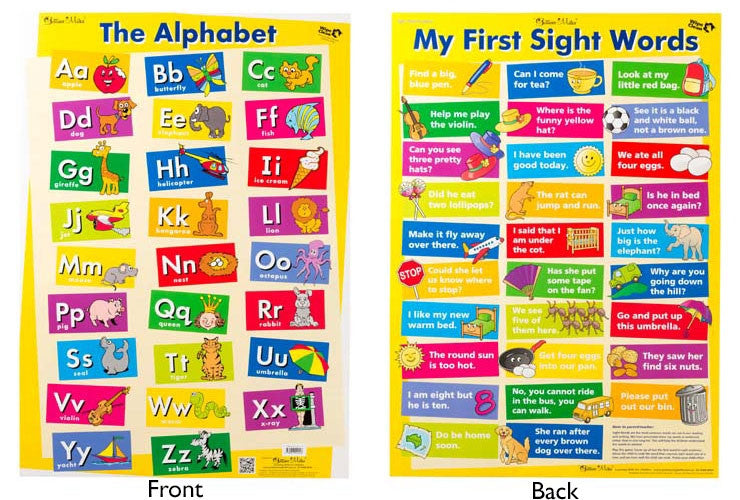 Gillian Miles - Alphabet/My First Sight Words Wall Chart