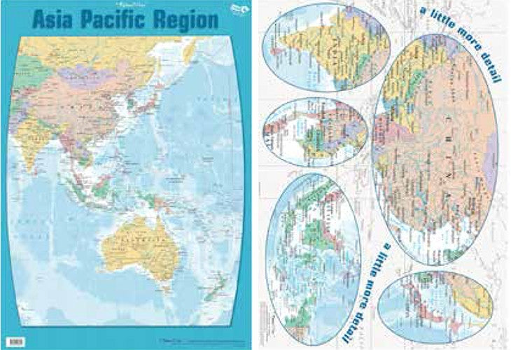 Gillian Miles - Map Asia Pacific Region - Wall Chart