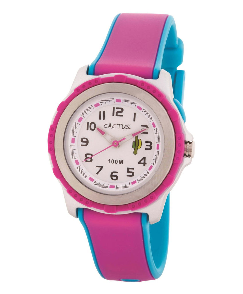 CACTUS Watches - Summer Splash - Pink & Blue -100m Water Resistant- CAC-78-M55