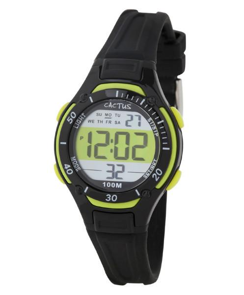 CACTUS Watches - Wave Tech - Water Resistant - Black/Green - CAC-82-M01