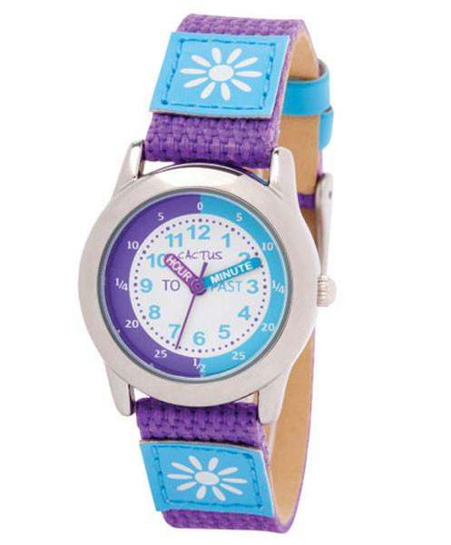 CACTUS Watches - Time Teacher Watch - Purple Flower - CAC-89-L09