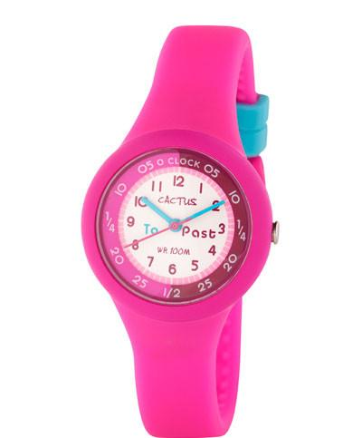 CACTUS Watches - Time Trainer - Time Teacher Watch - CAC-92-M55 Hot Pink