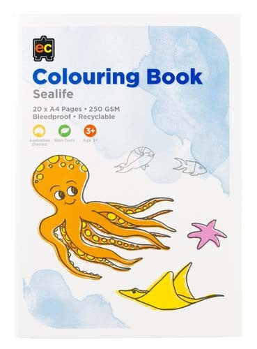 EC Kinder Colouring Book Sea Life