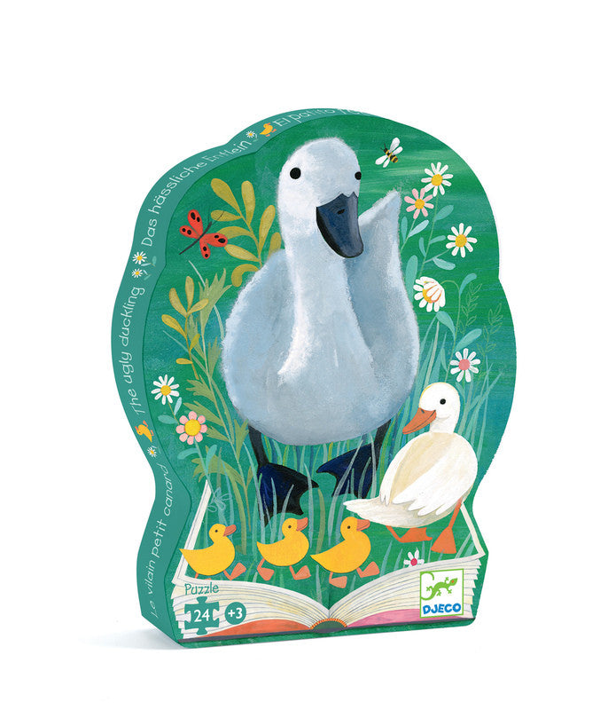 DJECO Puzzle Silhouette The Ugly Duckling with Swan 24pc