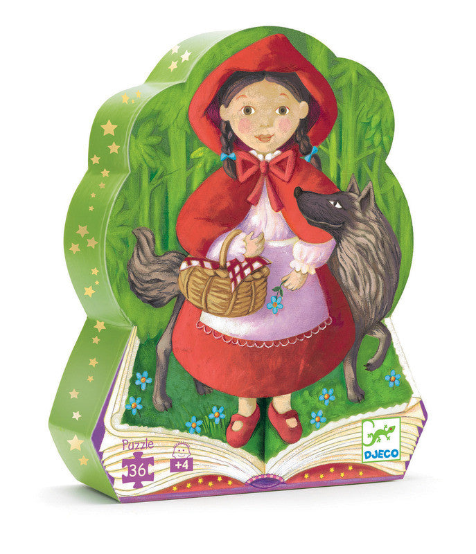 DJECO Puzzle Silhouette Red Riding Hood 36pc