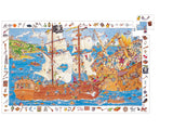 DJECO Puzzle Observation Pirates 100pc