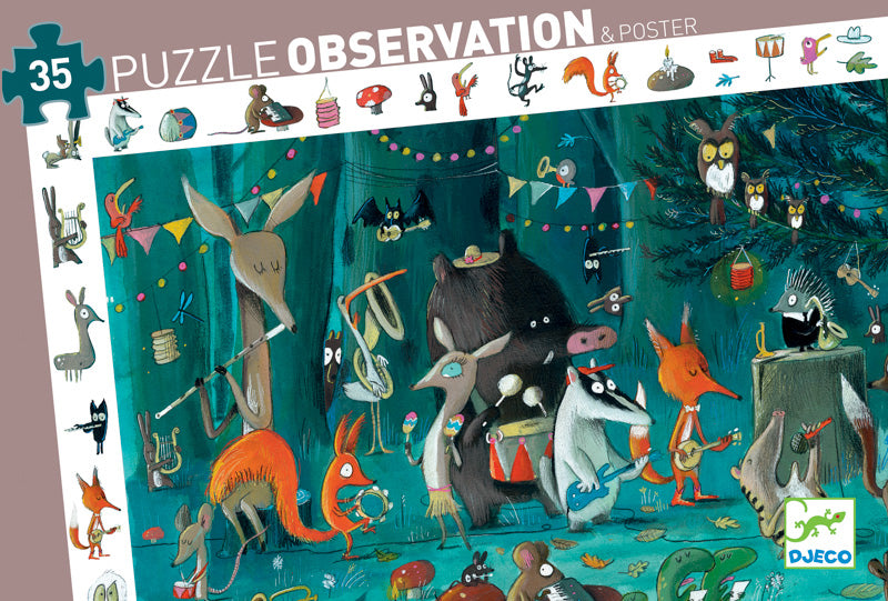 DJECO Puzzle Observation The Orchestra 35pc