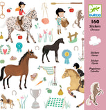 DJECO Stickers Horse - Pack of 160