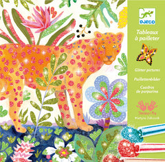 DJECO Art Kits - Glitter Pictures - Tropico Glitter Boards