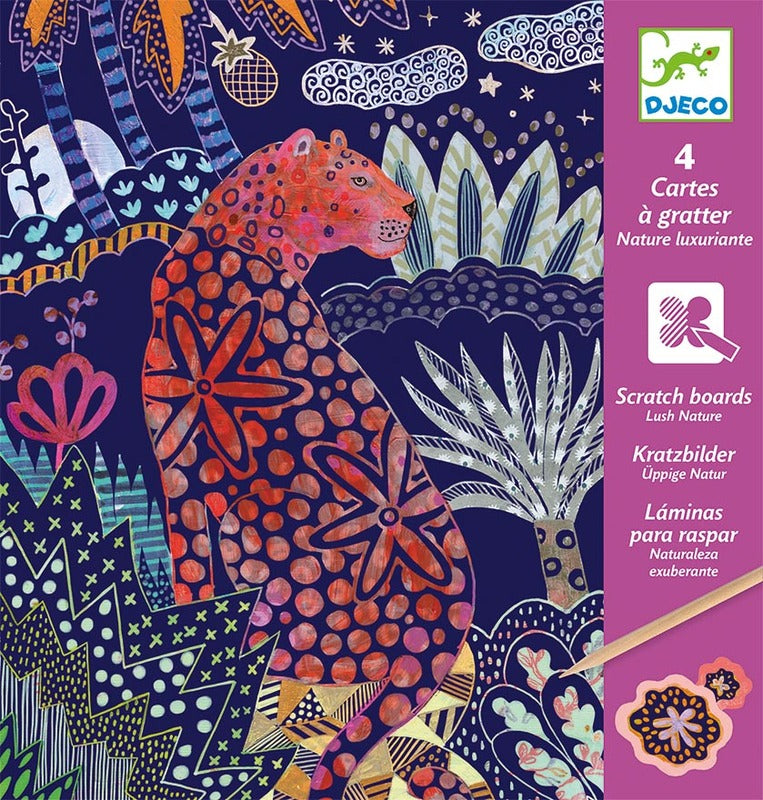 DJECO Art - Scratch Cards - Lush Nature