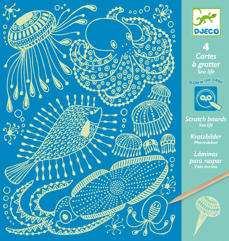 DJECO Art - Scratch Cards - Sea Life