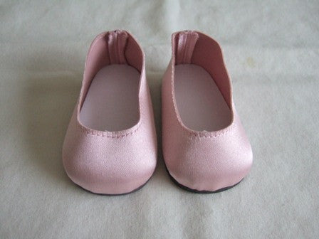 DRESS MY DOLL Shoes Pink Satin Slip On