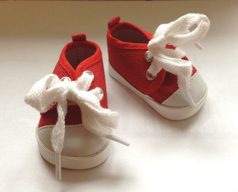 DRESS MY DOLL Shoe Red Tennis