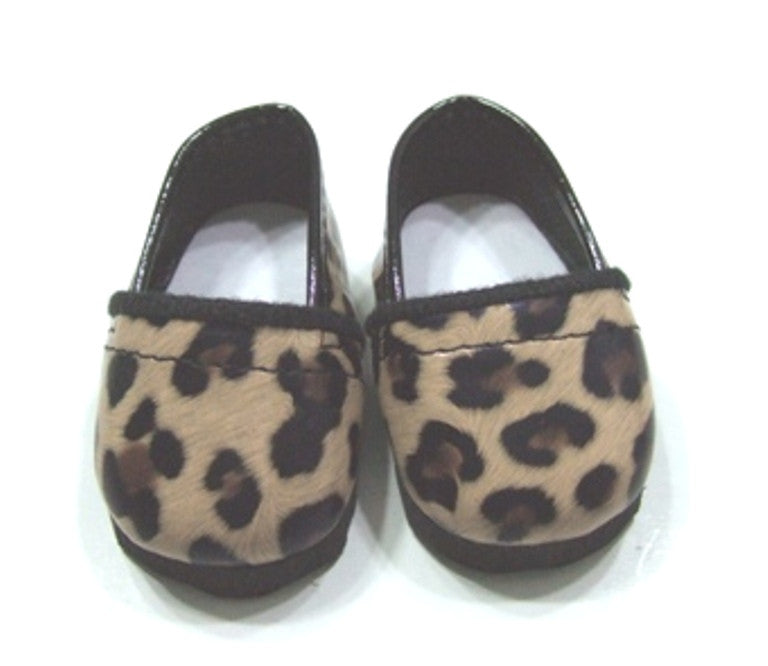 DRESS MY DOLL Shoes Cheatah Print Loafers