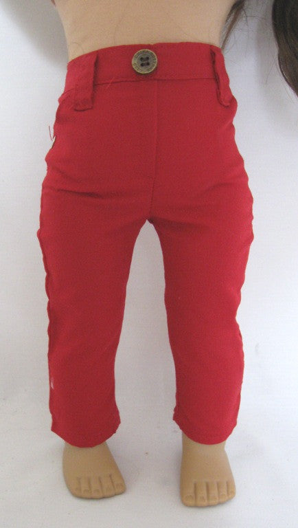 DRESS MY DOLL Jeans Red Skinny